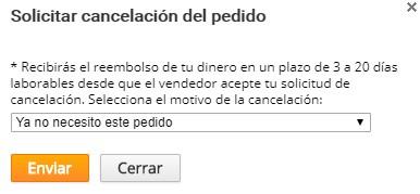cancelar pedido
